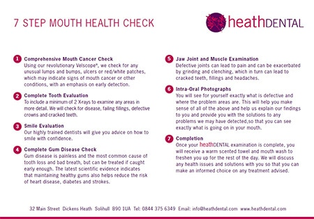 heath dental welcome pack