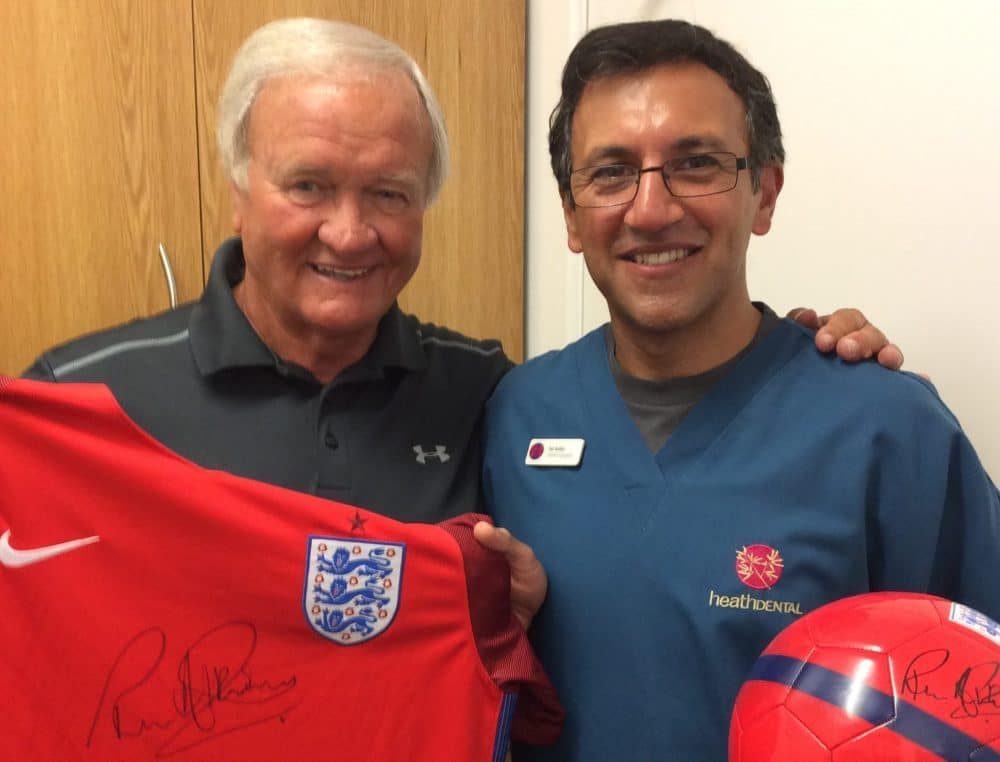 WIN Signed England Shirt By Ron Atkinson