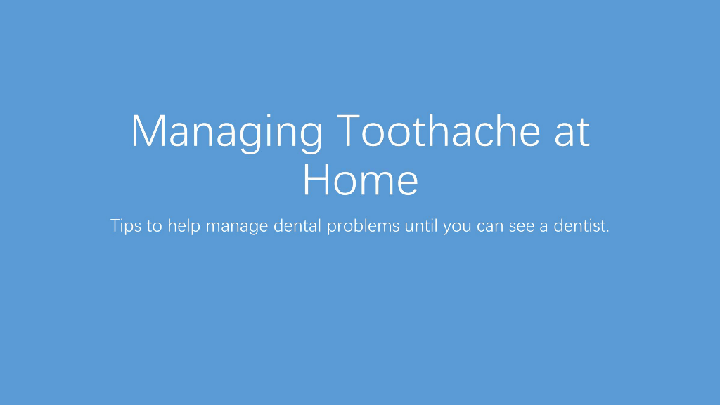 Toothache Advice